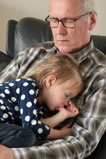 Grandfather and child